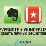 Evernote + Wunderlist: как повысить личную эффективность?